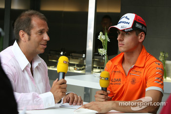 Adrian Sutil, Spyker F1 Team and Kai Ebel