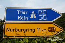 Road sign to the Nurburgring
