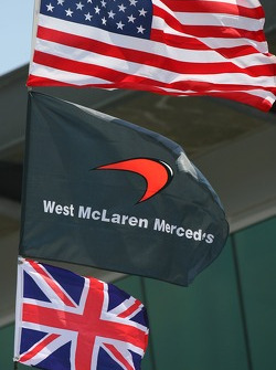 USA flag with McLarne and Union Jack