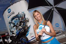 The lovely Konica Minolta girl