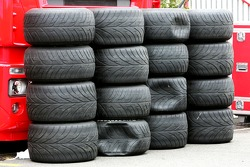 Neglected Bridgestone tyres