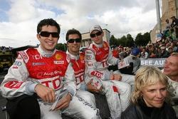 Mike Rockenfeller, Lucas Luhr and Alexandre Premat