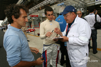 Alain Prost and Nicolas Prost sign autographs