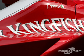 Toyota F1 Team body work detail