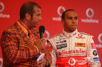 Lewis Hamilton, McLaren Mercedes and Kai Ebel,, Vodafone Karting Event