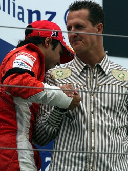 Podium: Felipe Massa and Michael Schumacher