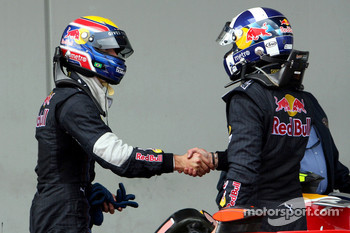 David Coulthard, Red Bull Racing congratulates Mark Webber, Red Bull Racing