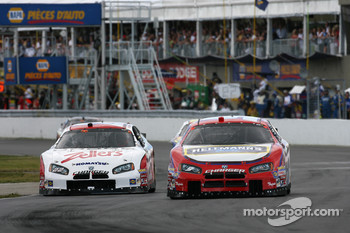 Patrick Carpentier and Boris Said battle for the lead