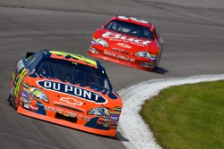 Jeff Gordon leads Dale Earnhardt Jr.