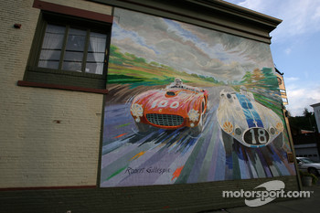 A painted wall in Watkins Glen