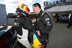 GS pole winner Joe Foster celebrates