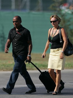 Anthony Hamilton, Father of Lewis Hamilton arrives at the circuit