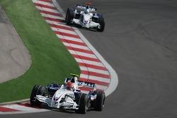 Robert Kubica, BMW Sauber F1 Team, F1.07 and Nick Heidfeld, BMW Sauber F1 Team, F1.07