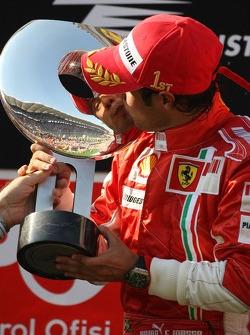 Podium: race winner Felipe Massa