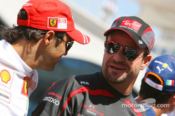 Felipe Massa, Scuderia Ferrari and Rubens Barrichello, Honda Racing F1 Team