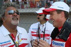 Dr V J Mallya , Chairman & Managing Director, Kingfisher with Ralf Schumacher, Toyota Racing
