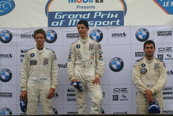 The podium: Robert Thorne, Alexander Rossi, Yannick Hofman