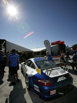 Tafel Racing Porsche 911 GT3 RSR at technical inspection