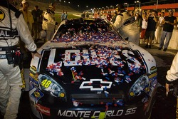 Victory lane: Jimmie Johnson's winning car