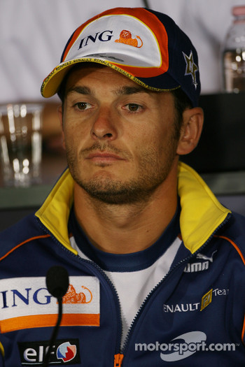 FIA press conference: Giancarlo Fisichella, Renault F1 Team