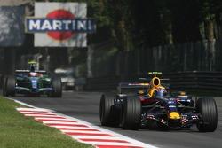 Mark Webber, Red Bull Racing, RB3 and Rubens Barrichello, Honda Racing F1 Team, RA107