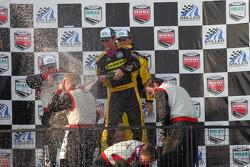 GT podium: class winner Paul Edwards celebrates