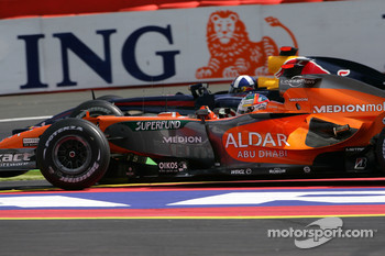 Adrian Sutil, Spyker F1 Team, F8-VII-B, David Coulthard, Red Bull Racing, RB3