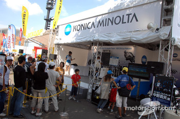 Konica Minolta Honda display area