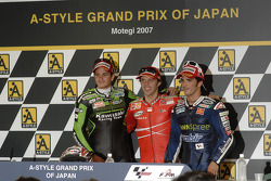 Post-race press conference: race winner Loris Capirossi, Randy De Puniet and Toni Elias
