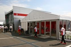 Team area for Scuderia Ferrari