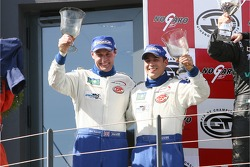 GT1 podium: Citation Cup winners and champions Ben Aucott and Stéphane Daoudi