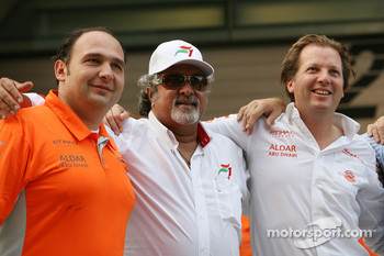 Spyker F1 Team and Colin Kolles, Dr Vijay Mallya, Kingfisher, Michiel Mol, Spyker