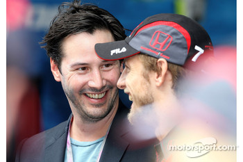 Keanu Reaves and Jenson Button, Honda Racing F1 Team
