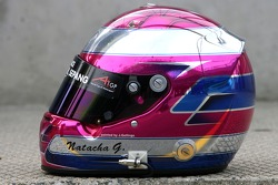 Natacha Gachnang, driver of A1 Team Switzerland helmet