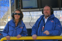 Katie Clements and Tony Clements, Seat holder of A1 Team Great Britain