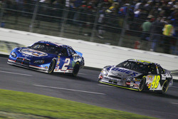 Kurt Busch races with Jimmie Johnson