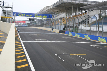 The grandstands at the Interlagos circuit