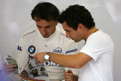 Robert Kubica,  BMW Sauber F1 Team , Timo Glock, Test Driver, BMW Sauber F1 Team