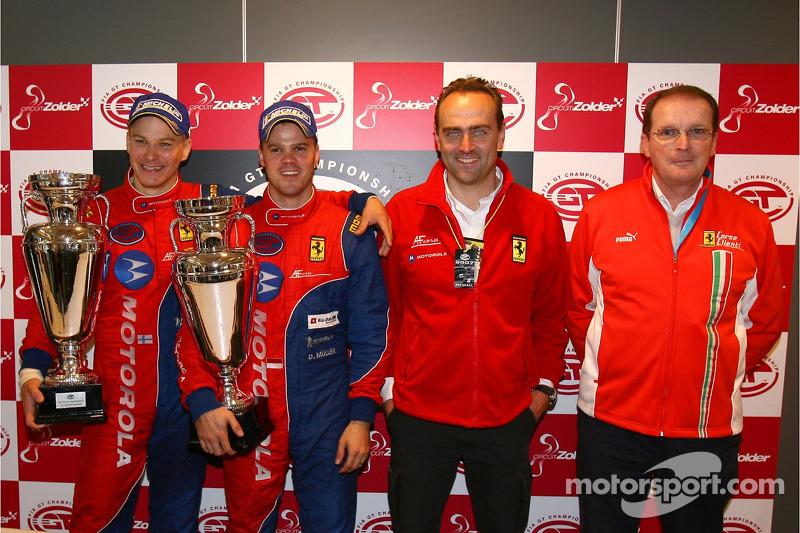 Press conference: GT2 champions Toni Vilander and Dirk Muller