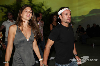 Rubens Barrichello with his wife Silvana