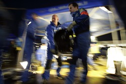 Subaru WRT team members at work