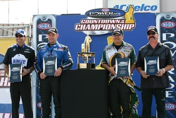 Final four group shot: Ron Capps, Robert Hight, Tony Pedregon and Gary Scelzi