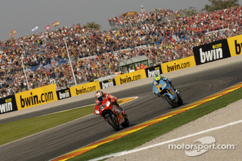 Loris Capirossi and Chris Vermeulen