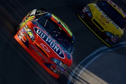 Jeff Gordon leads Kevin Harvick