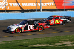 Sam Hornish Jr. races with Greg Biffle