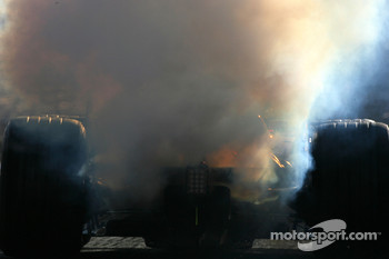 Jarno Trulli, Toyota Racing, smoking