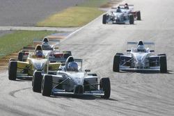 Mathjis Harkema, Josef Kaufmann Racing and Matthew Bell, Motaworld Racing
