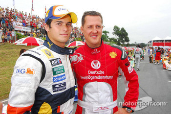 Nelson A. Piquet and Michael Schumacher