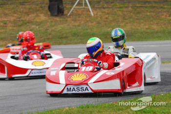 Felipe Massa, Lucas Di Grassi and Michael Schumacher