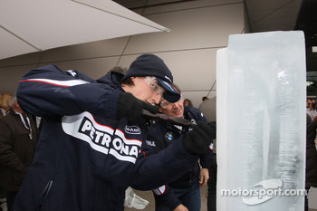 Ice carving, Robert Kubica,  BMW Sauber F1 Team